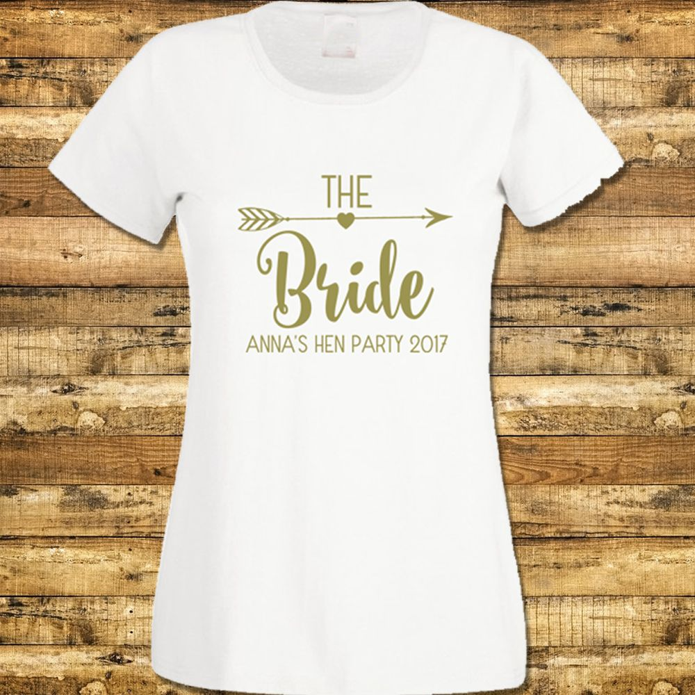 Personalised Hen Party T-Shirt Bride Tribe